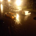 Kišnica na ulicama Pančeva