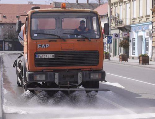 Dezinfekcija ulica, trgova i javnih objekata