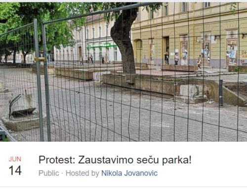 Protest protiv seče parka [FOTO]
