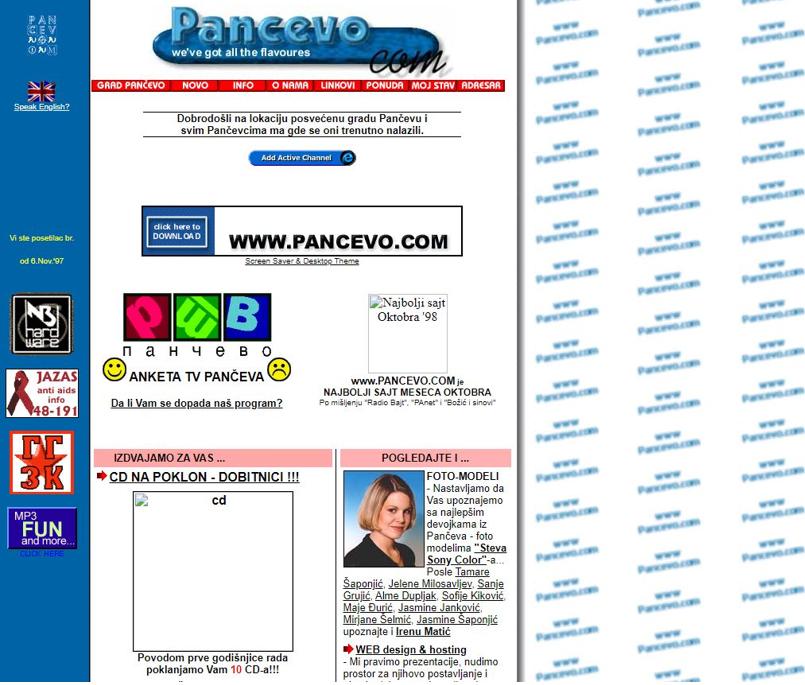 Pancevo.com -1998.