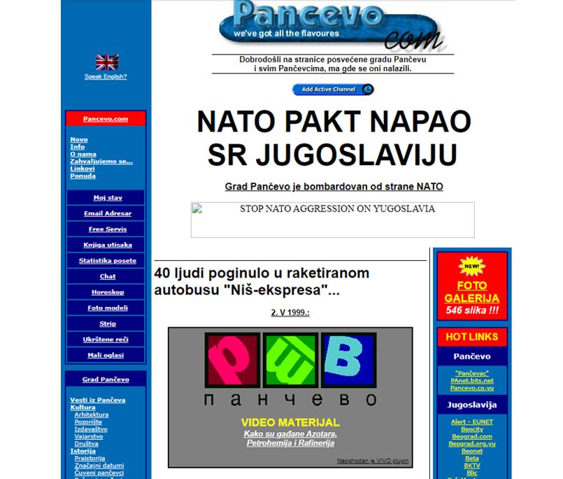 Pancevo.com -1999.