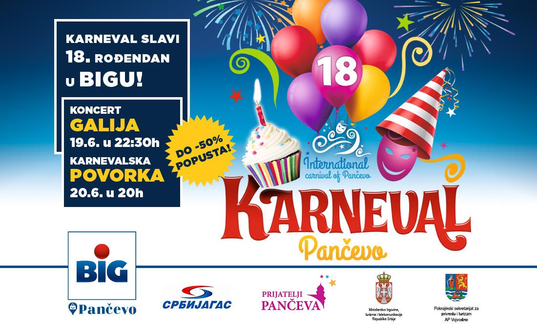 Program Internacionalnog Karnevala Pančevo 2020