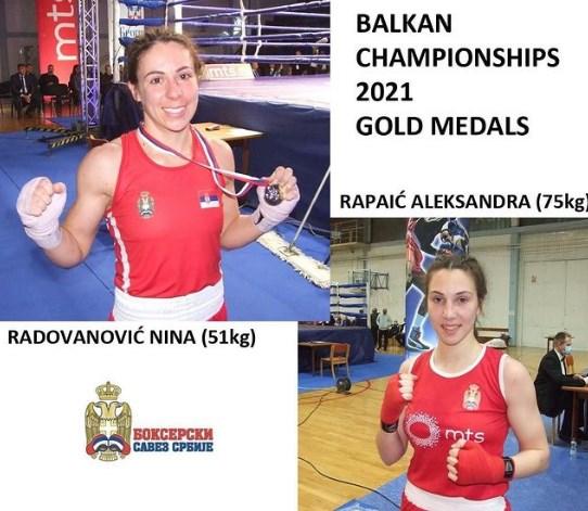 ZLATNE DAME! Prvi put posle više od tri decenije Srbija ima balkanske prvake u boksu